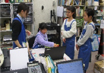 中央本町お仕事体験「たいけん!図書館のお仕事」
